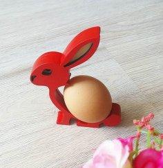 Laser Cut Bunny Easter Egg Holder DXF File