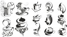 Coffee Set Free Vector