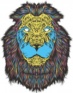 Lion Print Free Vector