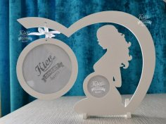 Laser Cut Baby Ultrasound Picture Frame Free Vector