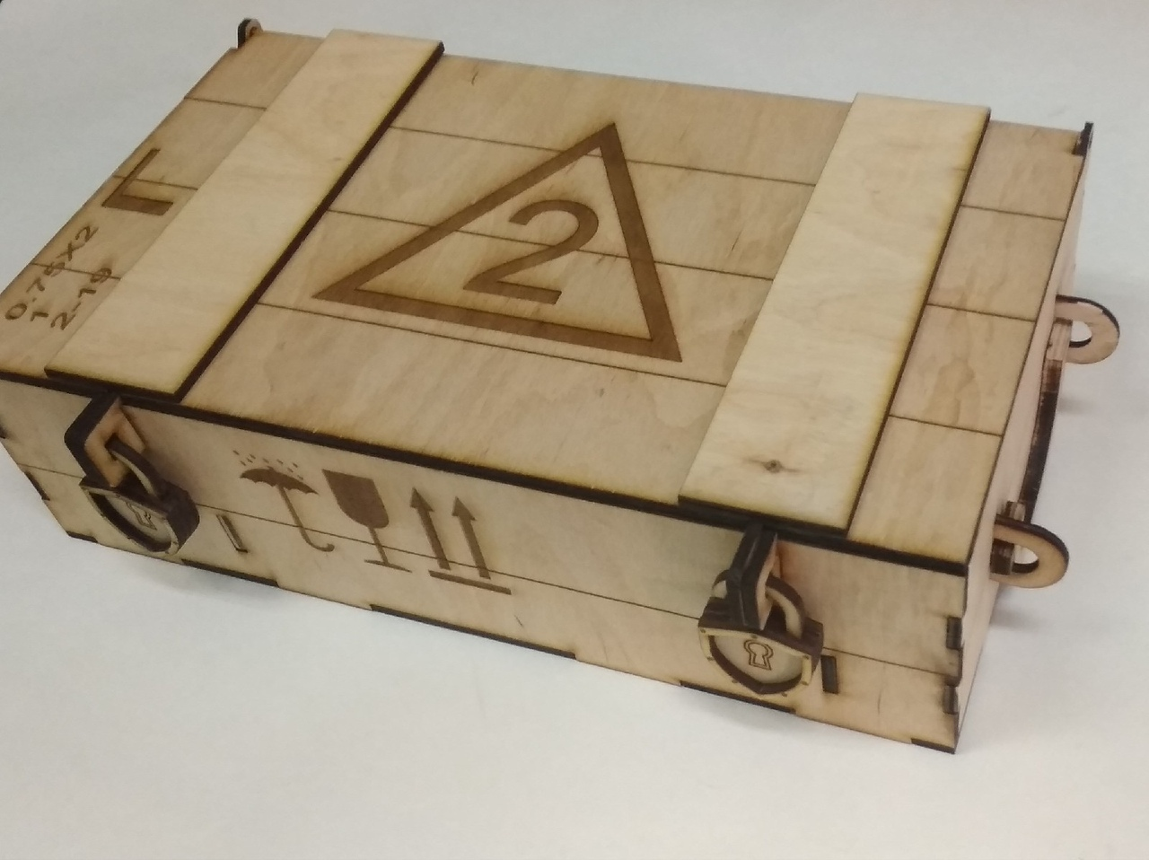 Laser Cut Military Ammo Crate Style Wooden Wine Box Free Vector