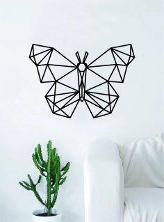 Laser Cut Geometric Butterfly Wall Art DXF File
