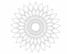 Floral Design 011 dxf File