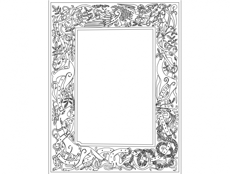 Celtic Clip Art Frame dxf File