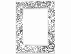 Celtic Clip Art Frame dxf File