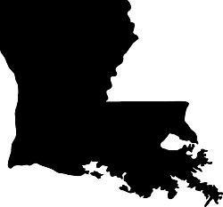 Louisiana Map dxf File