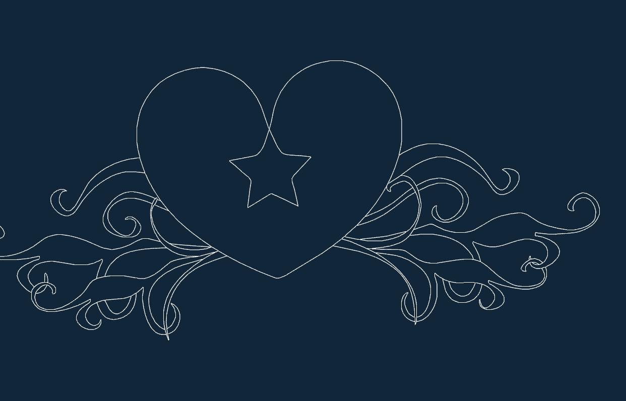 Heart Star.dxf
