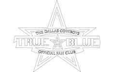 Dallas Cowboys Fan Club dxf File