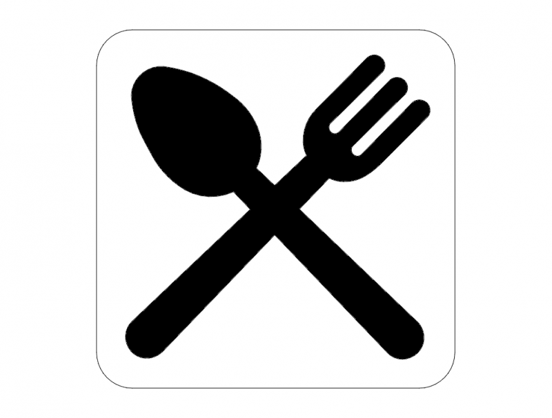Restaurant Road Signs dxf File