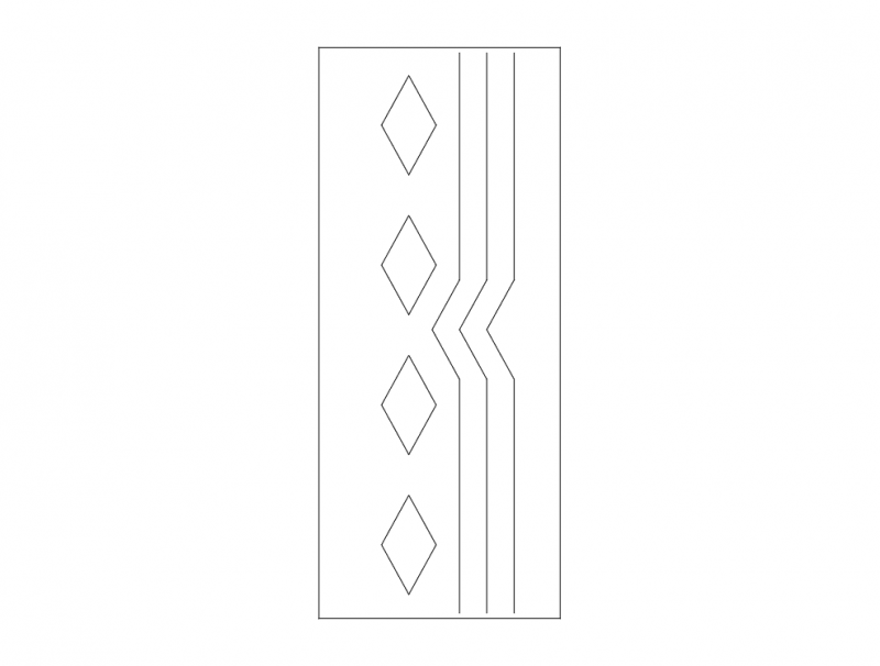 Mdf Door Design 23 dxf File