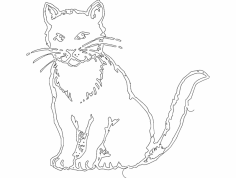 Gato (Cat) dxf File
