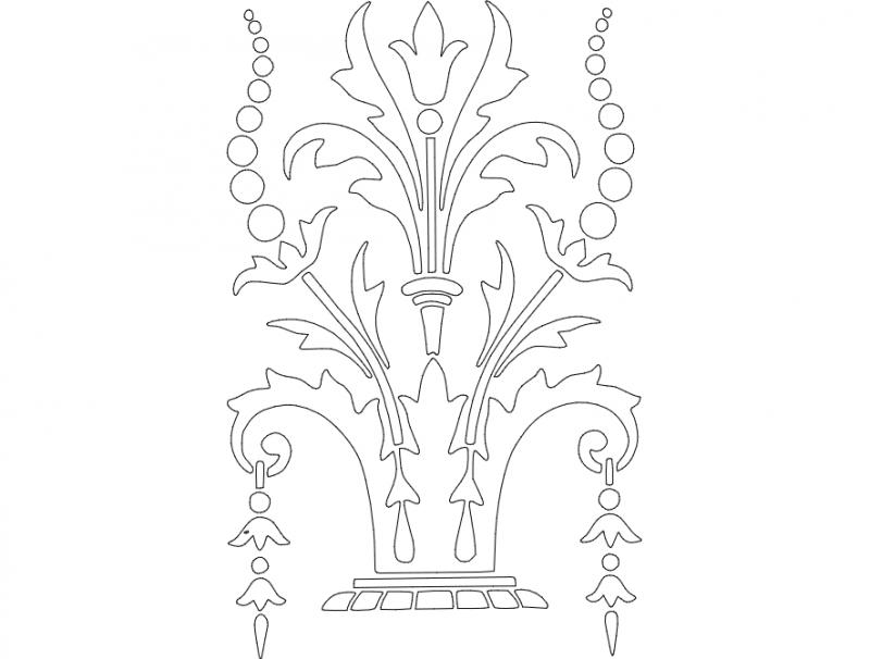 Ornament Design 2 dxf File