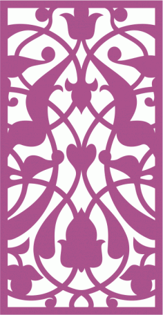 Design of laser cut floral screen Free Vector