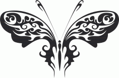 Tribal Butterfly Vector Art 30 DXF File