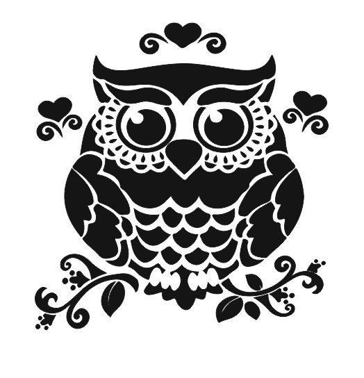 Owl On Branch Silhouette Free Vector