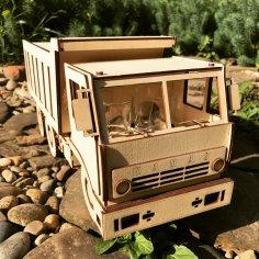 Kamaz  Laser Cut Wooden 3D Model Puzzle Kit Free Vector