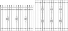Wrought iron Railing Free Vector
