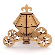 Carriage 3D Puzzle dxf File
