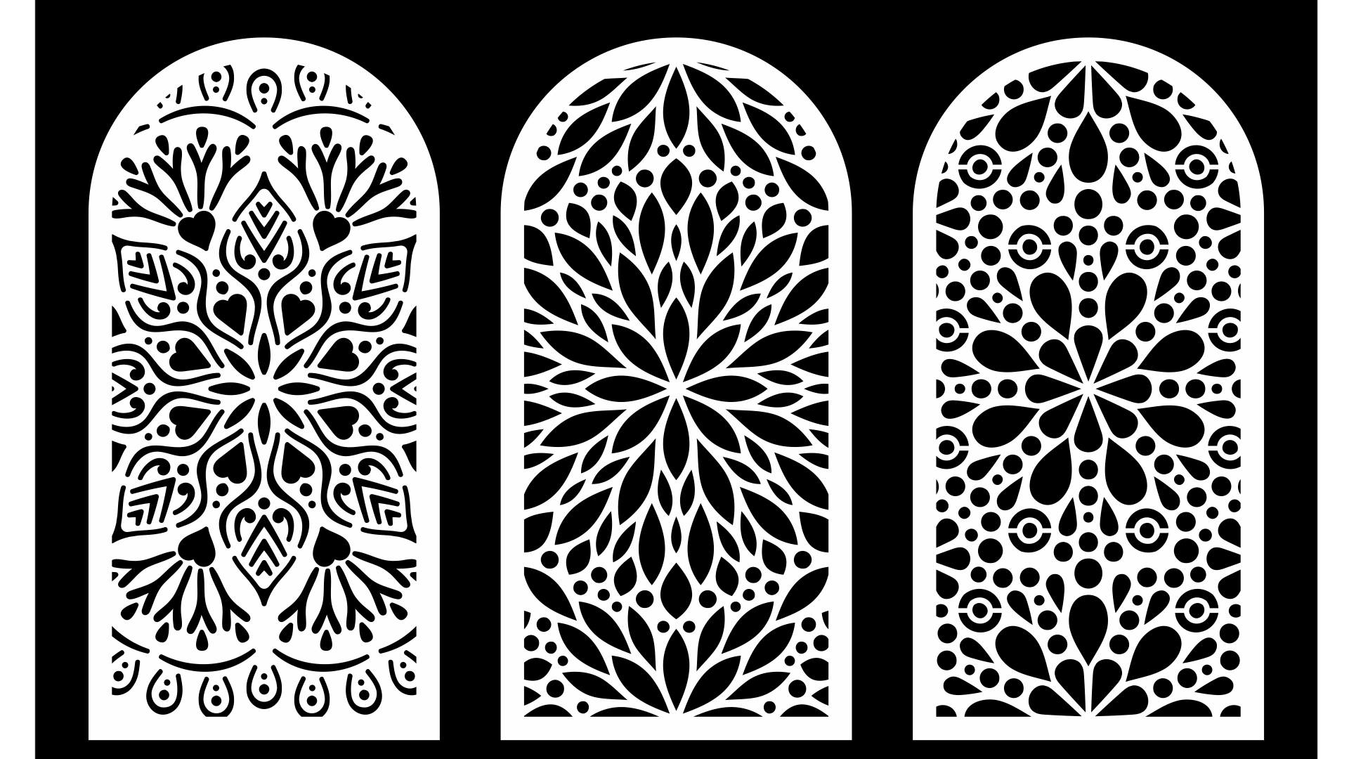 Cool Decorative Screens Panels Laser Cut DXF File