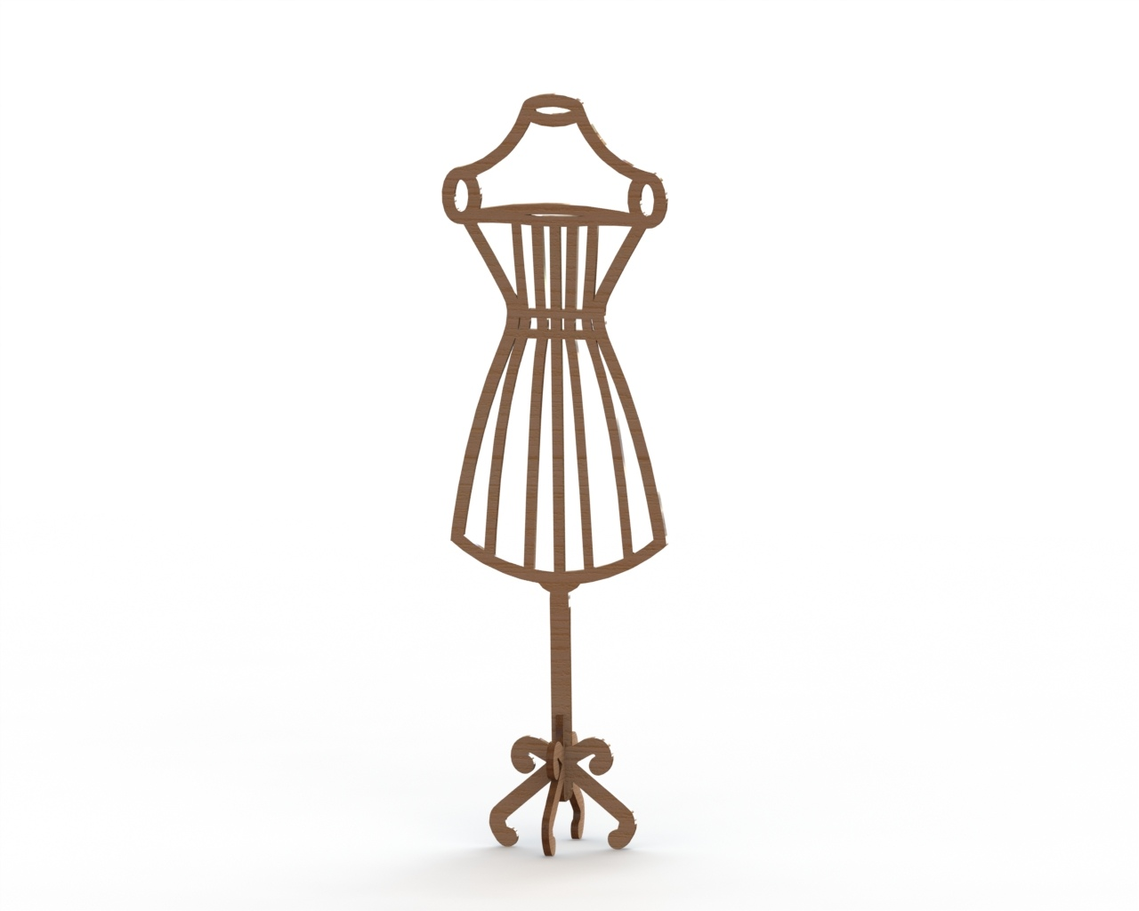 Mannequin MDF Dress Form Laser Cut 6mm Free Vector