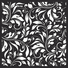 Damask Floral Vector Seamless Pattern CDR File