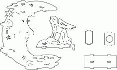 Lampara Luna DXF File