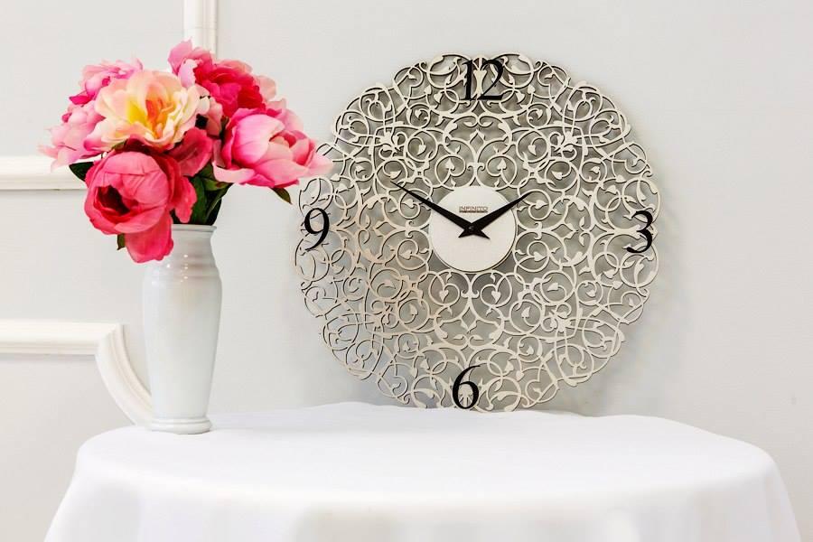 Stylish Ornament Clock Free Vector