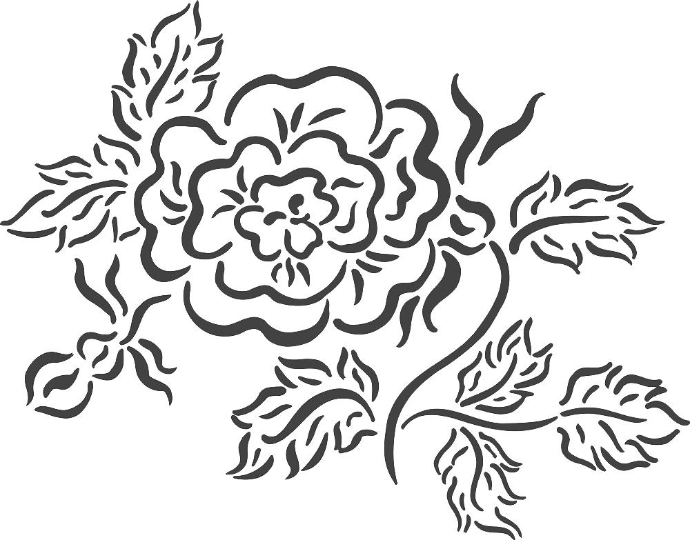 Beautiful floral arrangement DXF File