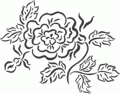 Beautiful floral arrangement DXF File