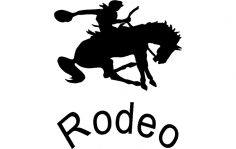 Rodeo Silhouette Vector dxf File