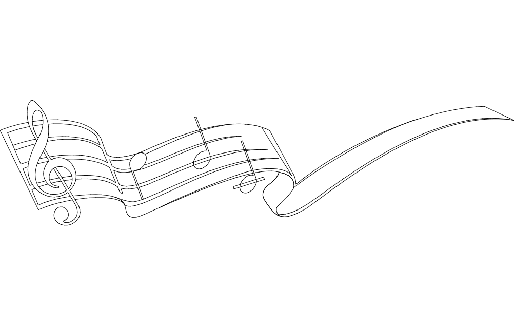 Music Note dxf File