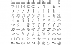Music Symbols dxf File