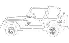 Jeep Side dxf File