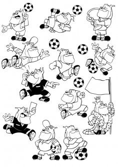 Cartoon Football Dog