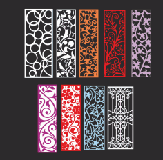 Ornamental pattern collection Free Vector