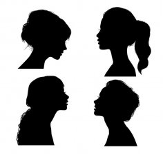 Girl Silhouette Vector CDR File