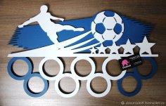 Medalnitsa Futbolist – Medals hanger Laser Cut Free Vector