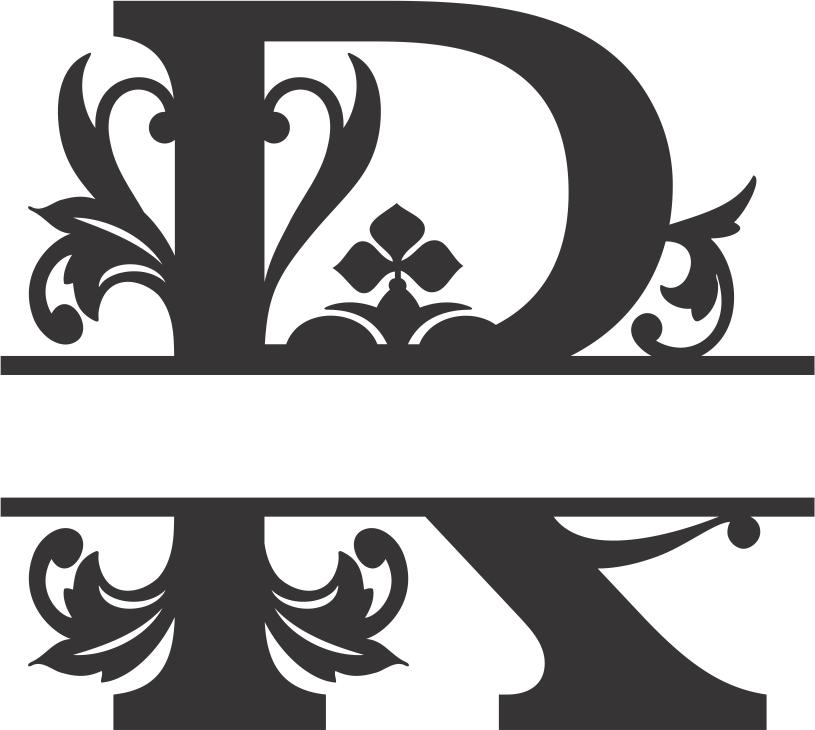 Regal Split Font R DXF File