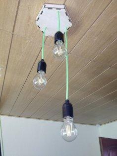 Laser Cut Ceiling Lamp 3mm Plywood SVG File