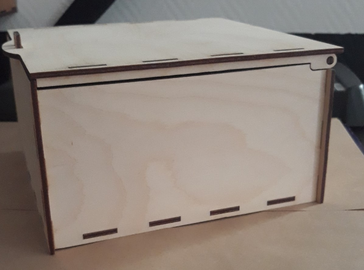 Laser Cut Simple Wooden Box Free Vector