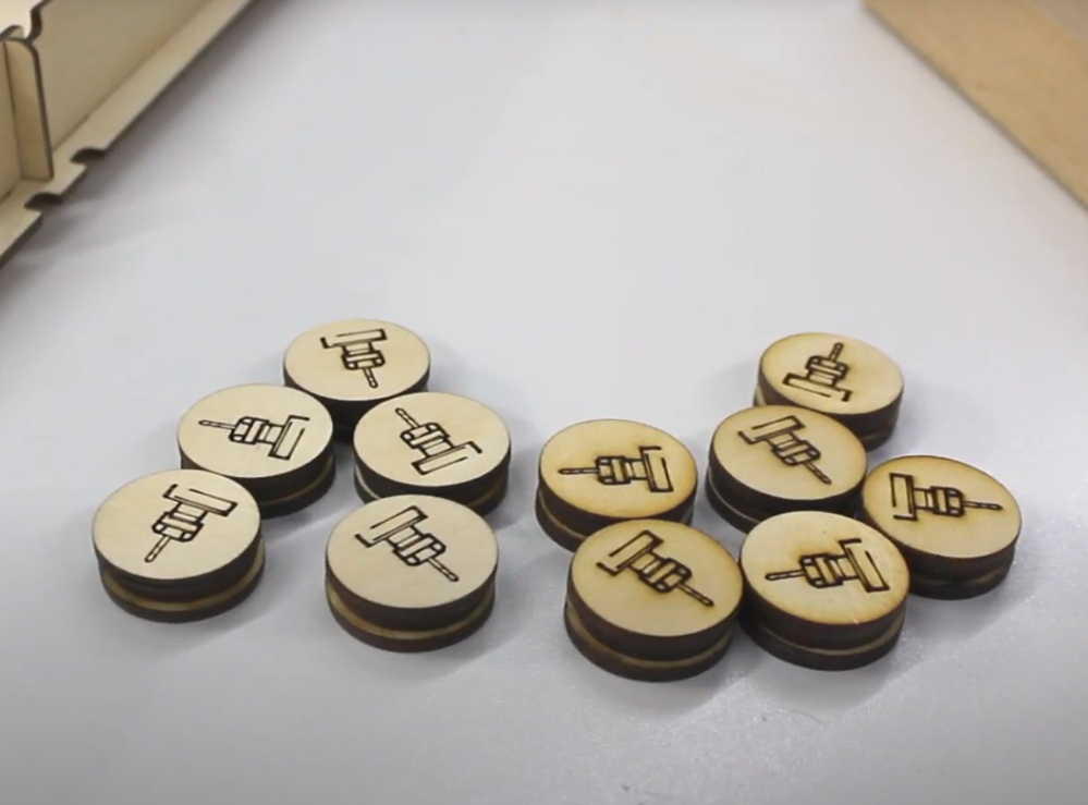 Laser Cut Pucket Game Board Game DXF File
