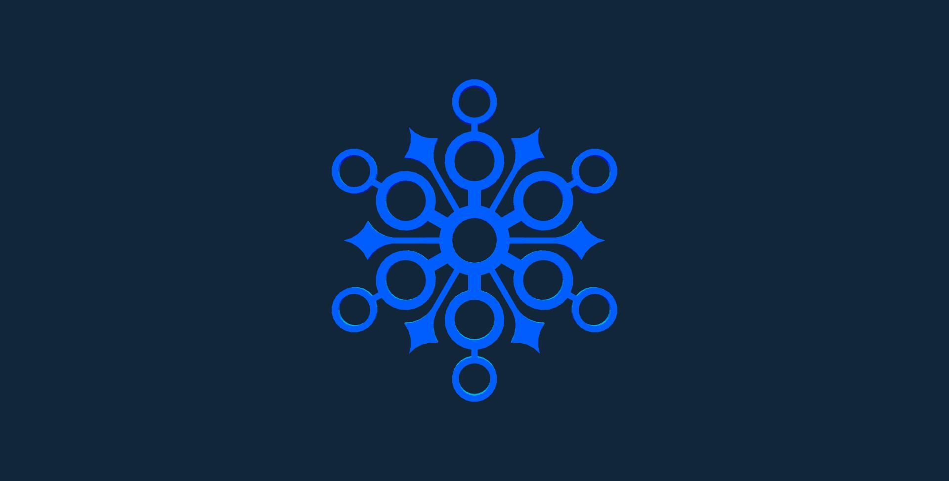 Snowflake design 7 stl file