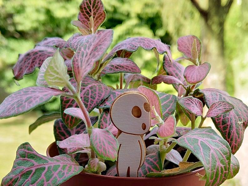 Laser Cut Princess Mononoke Potted Plant Decor Set Free Vector