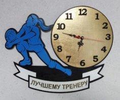 Laser Cut Volleyball Wall Clock Free Vector