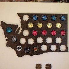 Laser Cut Washington Beer Cap Map DXF File