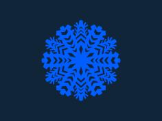 Snowflake blue stl file