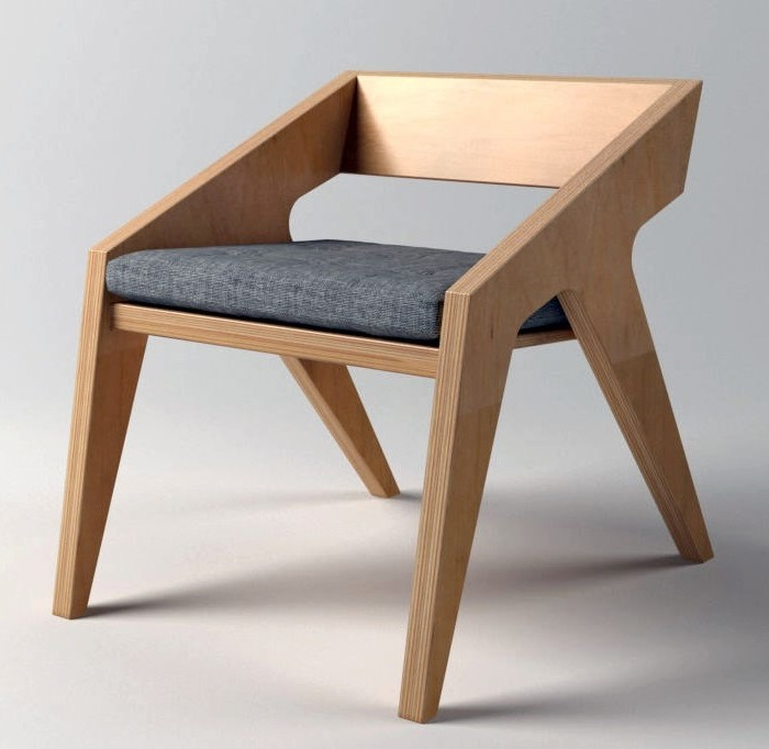 Laser Cut Dining Chair DXF File