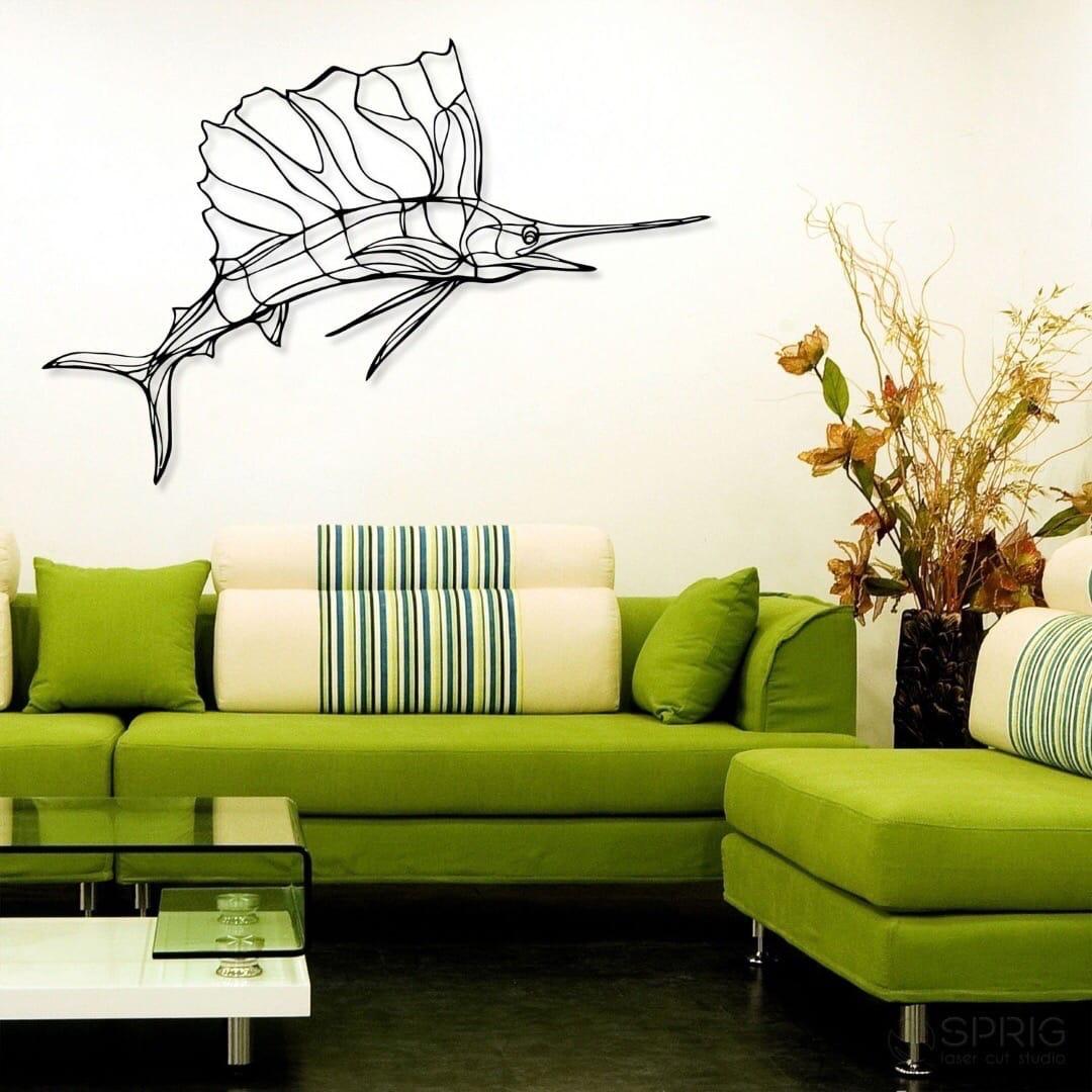 Laser Cut Sailfish Wall Decor Living Room Ideas Free Vector