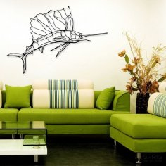Laser Cut Sailfish Wall Decor Living Room Ideas Free Vector
