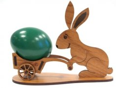 Easter Bunny Rabbit Laser Cut Plans Free Vector